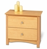 2 Drawer Night Stand in Maple - Sonoma Collection - Prepac Furniture - MDC-2422