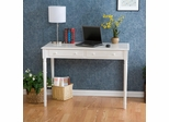 2 Drawer Writing Desk in Crisp White - Holly and Martin