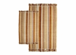 2-Piece Accent Rug Set in Bamboo / Multi - Silked Ribbed - 21155