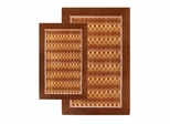 2-Piece Accent Rug Set in Brown / Red - Alabama Jaquard - 13347