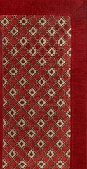 2-Piece Accent Rug Set in Burgundy - Alabama Jaquard - 13349