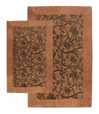 2-Piece Accent Rug Set in Mocha - Alabama Jaquard - 13350