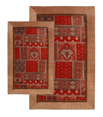 2-Piece Accent Rug Set in Red - Alabama Jaquard - 13348