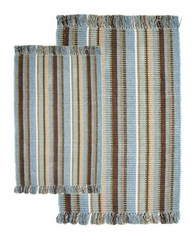 2-Piece Accent Rug Set in Spa / Multi - Silked Ribbed - 21159