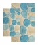 2-Piece Bath Rug Set in Aquamarine - Pebbles - 26653