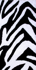 2-Piece Bath Rug Set in Black / White - Zebra - 26709