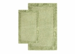 2-Piece Bath Rug Set in Bottle Green - Bella Napoli - 40113