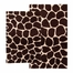 2-Piece Bath Rug Set in Chocolate / Beige - Giraffe - 26988
