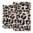 2-Piece Bath Rug Set in Chocolate / Ivory - Leopard - 26720