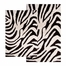 2-Piece Bath Rug Set in Chocolate / Ivory - Zebra - 26708