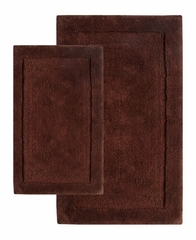 2-Piece Bath Rug Set in Chocolate - Olympia - 37652