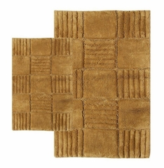 2-Piece Bath Rug Set in Linen - Checkerboard - 14565