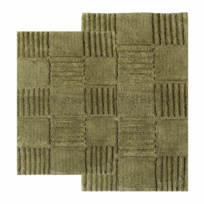 2-Piece Bath Rug Set in Peridot - Checkerboard - 14568