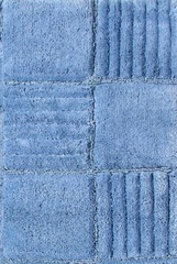 2-Piece Bath Rug Set in Smoke Blue - Checkerboard - 14569