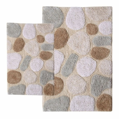 2-Piece Bath Rug Set in Spa - Pebbles - 26651