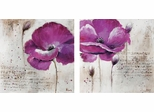 2 Piece Floral Wall Art Set - 960539