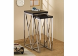 2 Piece Nesting Table Set in Black - 901041