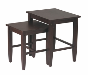 2-Piece Nesting Tables in Espresso - Office Star - ES19