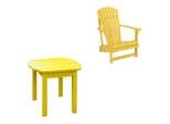 2-Piece Set - Adirondack Chair with Side Table in Yellow - K-51903-CT-0