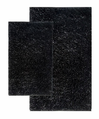 2-Piece Shag Accent Rug Set in Black - Barbados - 13420