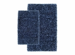 2-Piece Shag Accent Rug Set in Navy - Barbados - 13424