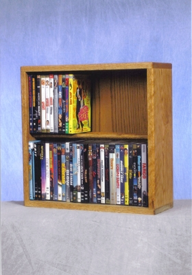 2 Row Dowel 60 Capacity DVD Cabinet Tower - 215-18