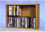 2 Row Dowel 80 Capacity DVD Cabinet Tower - 215-24