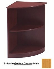 2 Shelf 1/4 Round Bookcase in Golden Cherry - Mayline Office Furniture - VBQ2GCH