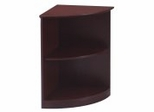 2 Shelf 1/4 Round Bookcase in Mahogany - Mayline Office Furniture - VBQ2MAH