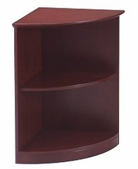 2 Shelf 1/4 Round Bookcase in Sierra Cherry - Mayline Office Furniture - VBQ2CRY