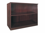 2 Shelf Bookcase in Mahogany - Mayline Office Furniture - VB2MAH