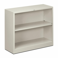 2 Shelf Metal Bookcase - Light Gray - HONS30ABCQ