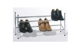 2-Tier Extended Shoe Rack in Chrome - 3262A