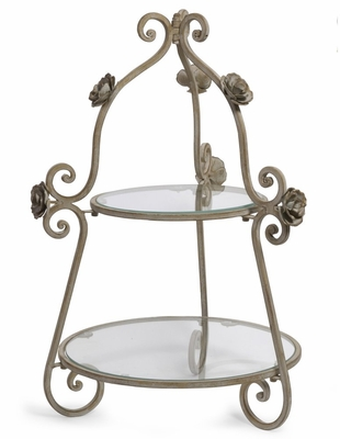 2-Tier Rose Plate Holder - IMAX - 56160