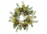 "20"" Artichoke Floral Wreath in Multi - Nearly Natural - 4684"