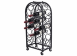 20 Bottle Wine Cage with Scrolls - Pangaea Home and Garden Furniture - BT-W063-K