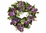 "20"" Hanel Lilac Wreath - Nearly Natural - 4786"