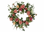 "20"" Rose Wreath - Nearly Natural - 4802"