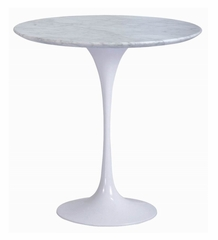 "20"" Round Saarinen Tulip Table in White - RT-335S-WHITE"