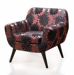 2003 Jetson Club Chair in Purple Floral Design - Armen Living - LC2003FAPU