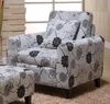 2013 Marietta Club Chair in Black and White Floral Pattern - Armen Living - LC2013CLFAWH
