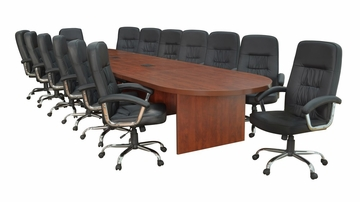"216"" Legacy Conference Table with 14 Carrera 1040 Swivel Chairs - ROF-LCTRT216521040BK"