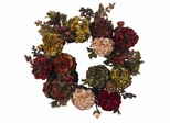 "22"" Autumn Hydrangea Peony Wreath - Nearly Natural - 4911"