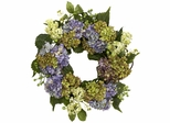 "22"" Hydrangea Wreath - Nearly Natural - 4781"