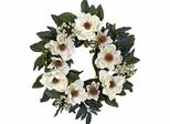 "22"" Magnolia Wreath - Nearly Natural - 4793"