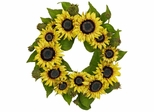 "22"" Sunflower Wreath - Nearly Natural - 4787"
