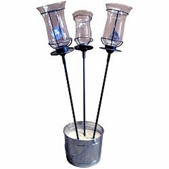 "22"" Table Stake with Champagne Torch (Set of 3) - Pangaea Home and Garden Furniture - DS-C4458-22-ST3"