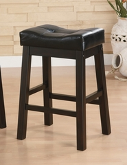 "24"" Bar Stool (Set of 2) in Brown Cherry - Coaster - 120519-SET"