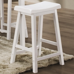 "24"" Bar Stool (Set of 2) in White - Coaster - 180149N-SET"
