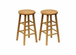 "24"" Beveled Seat Stool - Set of 2 - Winsome Trading - 81784"